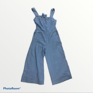 Re:named chambray wide leg jumpsuit size L NEW